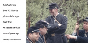Attorney takes step back in time at re-enactments