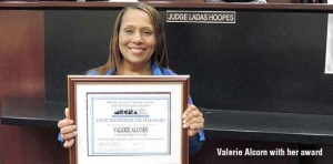 Michigan Electronic Court Reporters honor Valerie Alcorn as Court Reporter of the Year