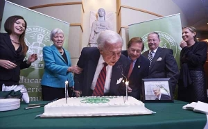 Former AG feted on his 90th for Kelley Institute's 6th annual lecture