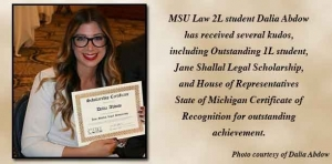 MSU Law student earns accolades