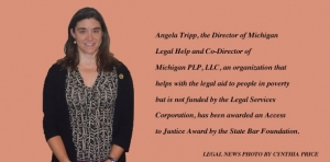 Michigan Legal Help, Angela Tripp given Access to Justice award