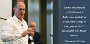 Amtrak president shares his experiences in a presentation to U-M Law students