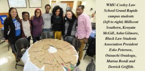 WMU-Cooley Law School Black Law Students Association helped Kids' Food Basket for Martin Luther King Jr. Day