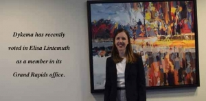 Elisa Lintemuth, newly elected member at Dykema, helps fulfill GR office goals
