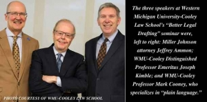 Legal drafting workshop features expertise of three language experts