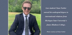 Teeing off: Law student got his first look at the legal world on a golf course