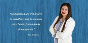 Immigration law is 'near and dear' to this student's heart
